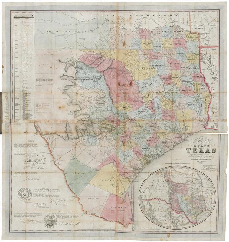 1849 Texas Map