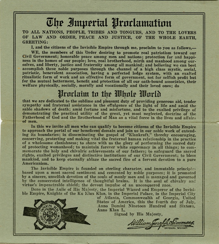 Imperial Proclamation