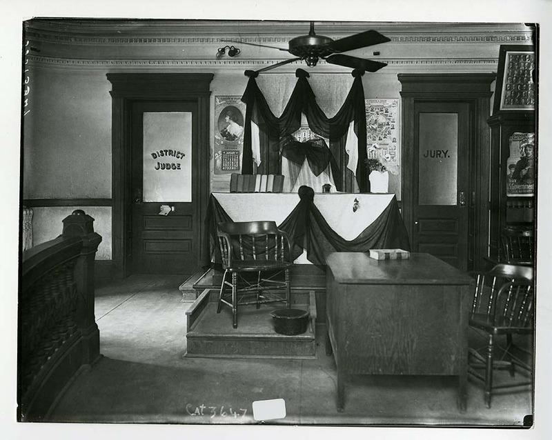 Courtroom circa January 1919