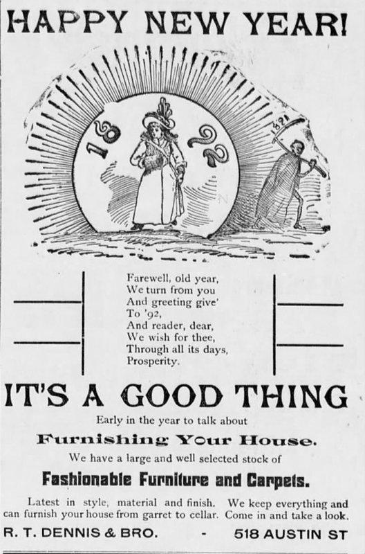 1892 Advertisement