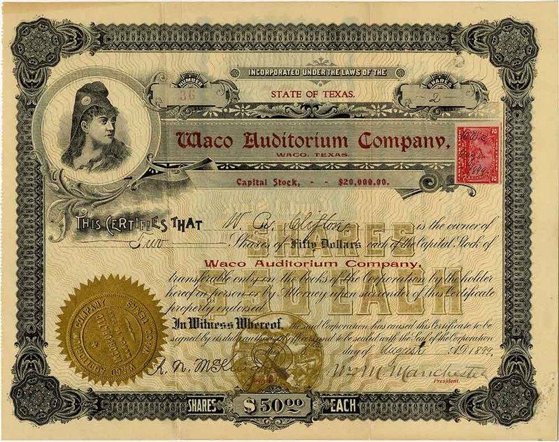 Stock Certificate (1899)
