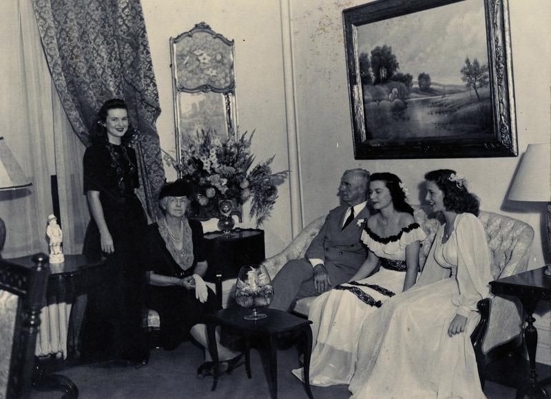 (Burleson Parlor, c. 1950)