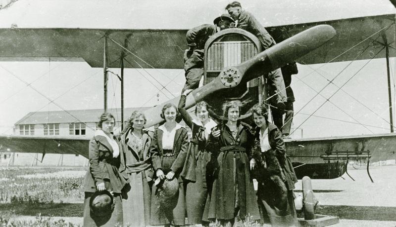 Women Watching Planes