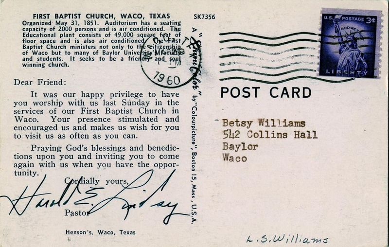 Visitor Response Card (1960)