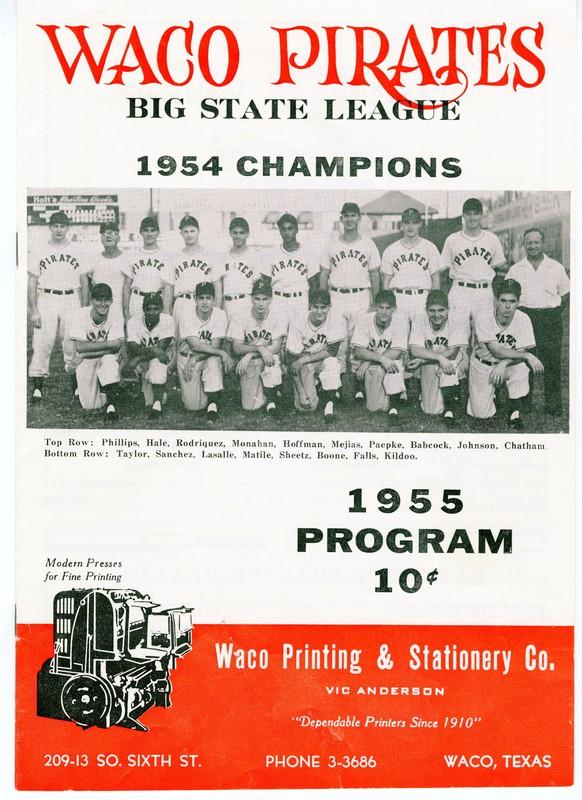 1955 Ballpark Program
